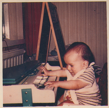 Jonathan on keyboard 6 months old